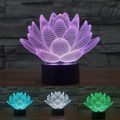 3d lotus led lamp lamps
