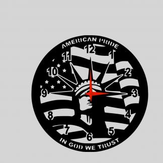 american-pride-wall-clock