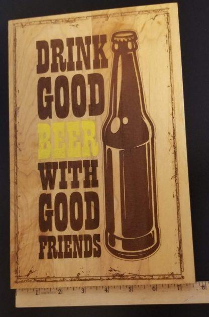 good beer sign width