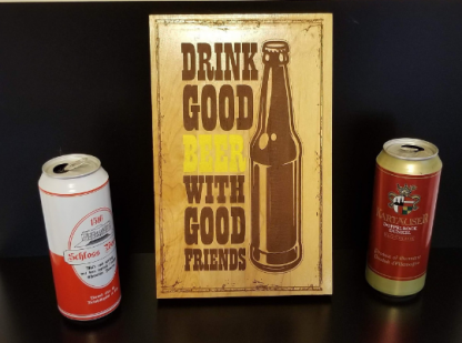 good beer sign with 2 beers