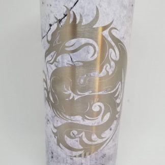marble dragon tumbler
