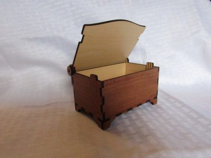 medium jewelry box Rustic Cherry Wood Grain
