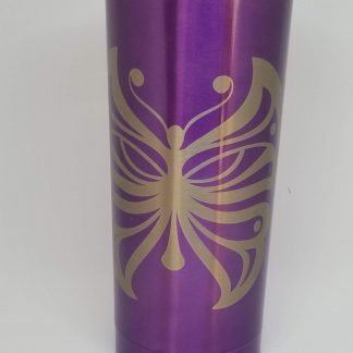 purple butterfly tumbler 2