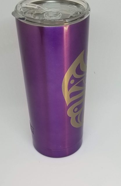 purple butterfly tumbler left