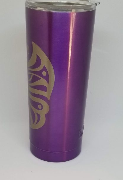 purple butterfly tumbler right