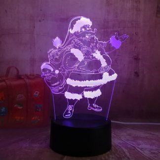 santa led close up