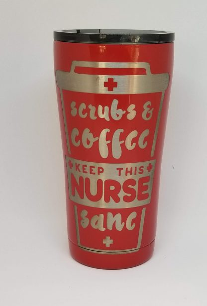 scrubs and coffee red cup 2