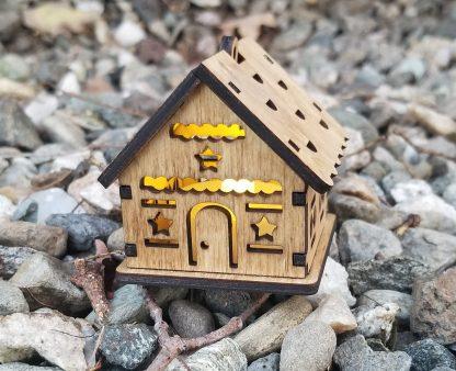 tea light star cabin on rocks