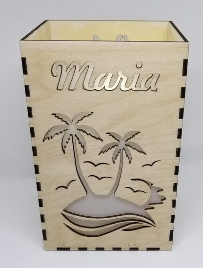 maria candle holder lit
