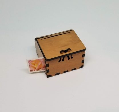 stamp dispenser with stamp