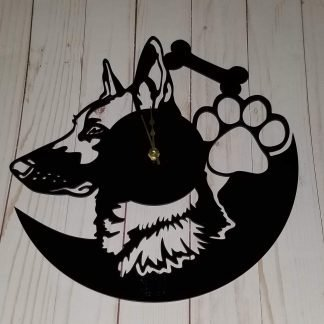 german shepherd clock 2