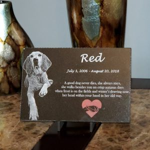 red memorial plaque