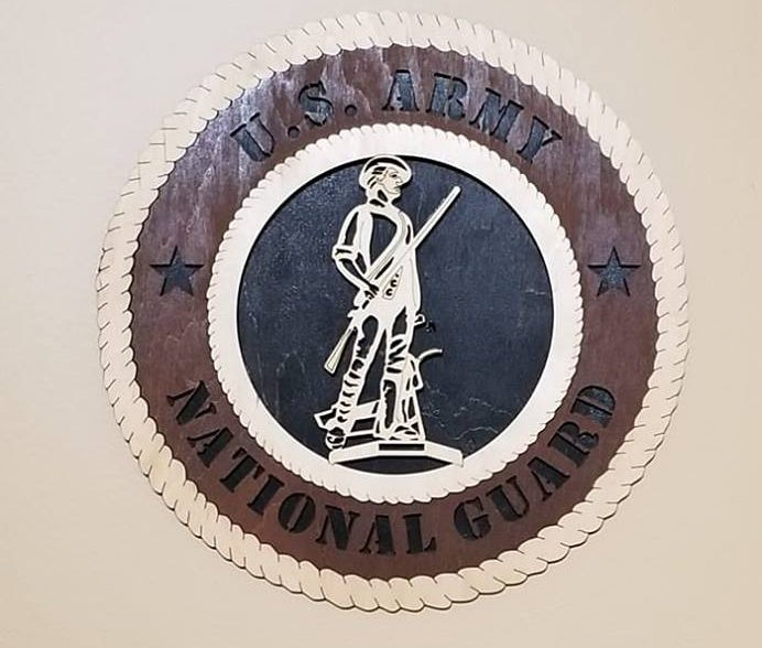 national guard plaque